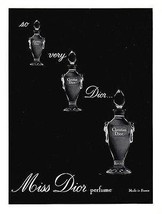 1964 AD Christian Dior French Miss Dior Made in France Perfume Illustrat... - $18.99