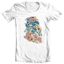 Justice League T-shirt Superman The Flash Aqua Man cotton tee DC comics DCO238 image 1