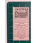 1889 F. W. Devoe & Co. Artists' Materials Advertisement Chicago - $24.00
