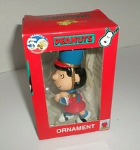 New Vintage 1990's Kurt Adler Peanuts Christmas Ornament Lucy Marching Band - $11.88