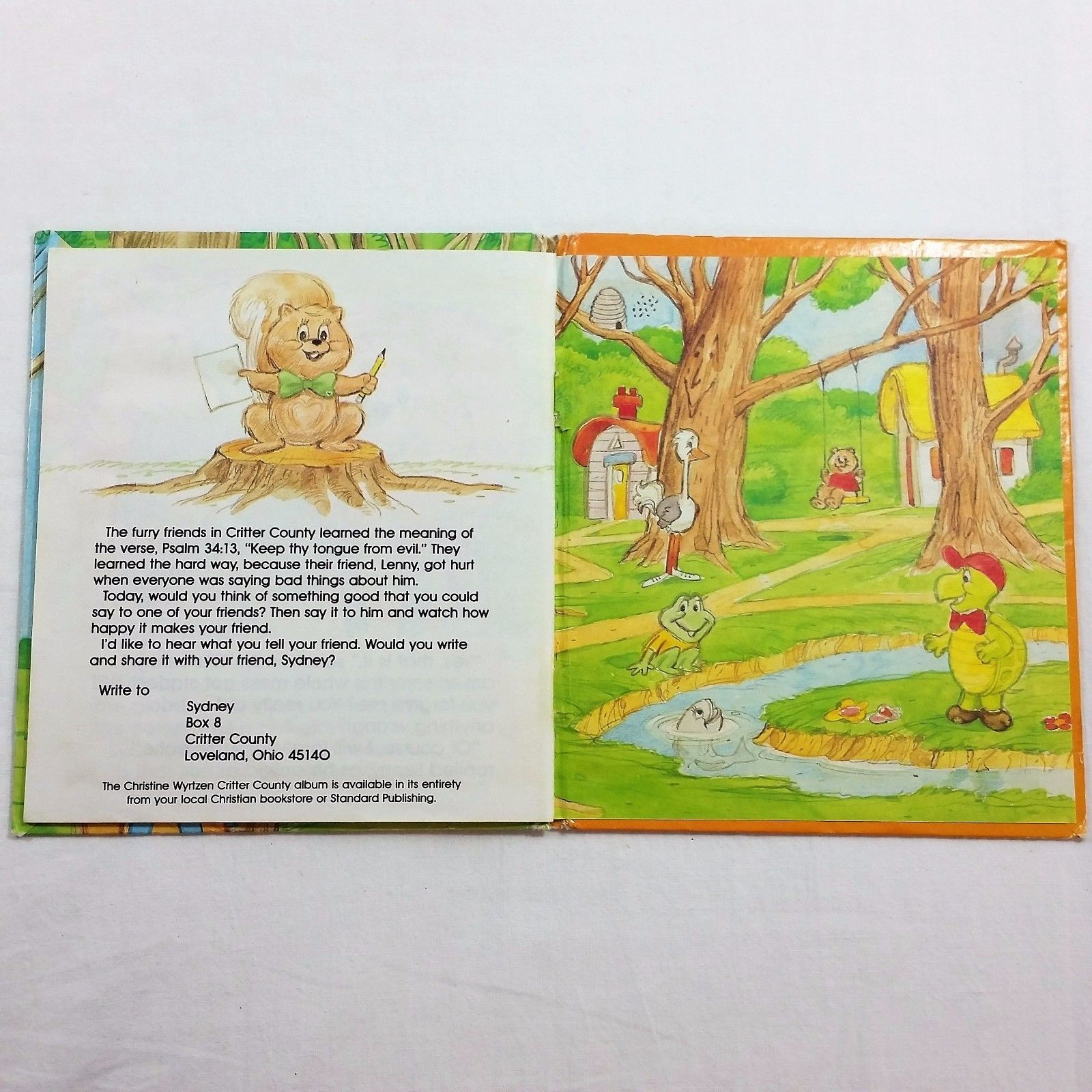 Words Can Hurt Critter County Childrens Vintage Book Hardcover Paula J Bussard