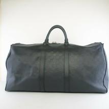Louis Vuitton Keepall 55 Damier Graphite Infini Black Leather Bag - $1,472.00