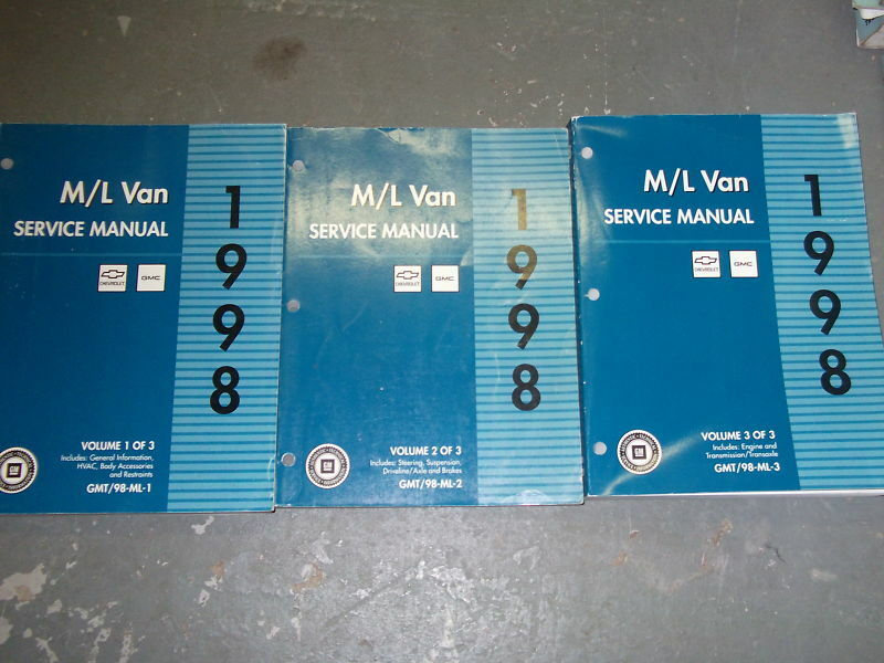 Primary image for 1998 GMC SAFARI & ASTRO VAN ML van M L van Service Shop Repair Manual Set 1ST ED