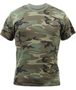 Woodland Camouflage Military Vintage Super Soft T-Shirt - $12.99+