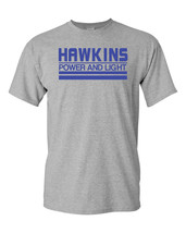 Hawkins Power and Light Stranger Things Men's Tee Shirt 1731 - $9.85+