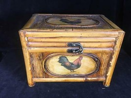 """Rooster MDF """"wood"""" Colonial Decorative Wooden Storage Box 8"""" x 9"""" x 10"""" - $24.74"""