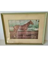Vintage Allan Brewer Jr 1957 Swaps Horse Print Thoroughbred Racing Framed - $34.99