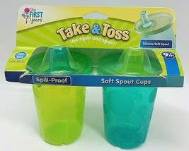 The First Years Soft Spout Sippy Cup 10 Oz Baby Cup 2pk Brand New 9m+ Bpa Free - $12.86