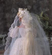 "4X Barbie 11-1/2"" Doll Victorian Bride Wedding Gown Cake Veil Crochet Pattern image 2"
