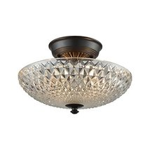 Elk Lighting 16041/2 Sweetwater - Two Light Semi-Flush Mount, Oil Rubbed... - $165.90