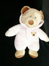 "2010 Ty Pluffies PJ BEAR Pink Plush Sewn Eyes Stuffed Beanie LOVEY 10"" - $12.86"