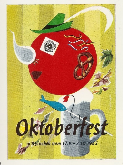 munich oktoberfest 1955 vintage 32x24 print poster art. Black Bedroom Furniture Sets. Home Design Ideas