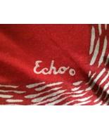 LOVELY VINTAGE RED ECHO LADIES GEOMETRIC DESIGN... - $11.29