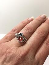 Enamel Stack Rings, Flower Ring, Cz Stack Ring - $21.59