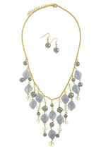 Bib Necklace, Blue Fashion Necklace, Statement Jewelry - $25.87 CAD