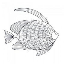 10017852 SHIPS FREE Accent Plus Iron Wall Art Fish - $37.78