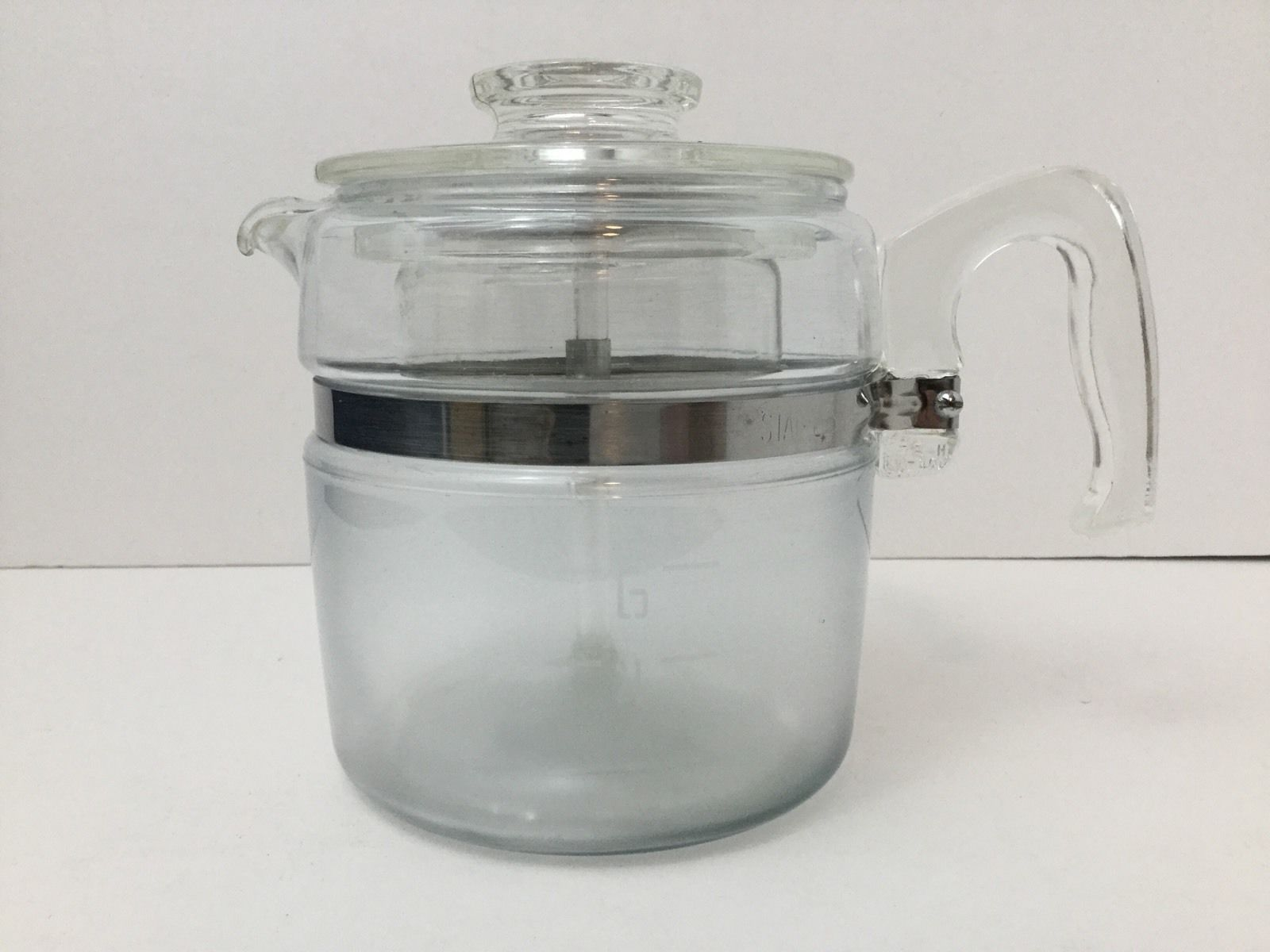 Vintage Pyrex 6 Cup Coffee Pot Percolator Glass 7756 Flameware COMPLETE