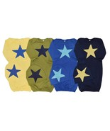 Unique Baby Boys 4 Pack Star Design Gown and Matching Cap Newborn - $57.99