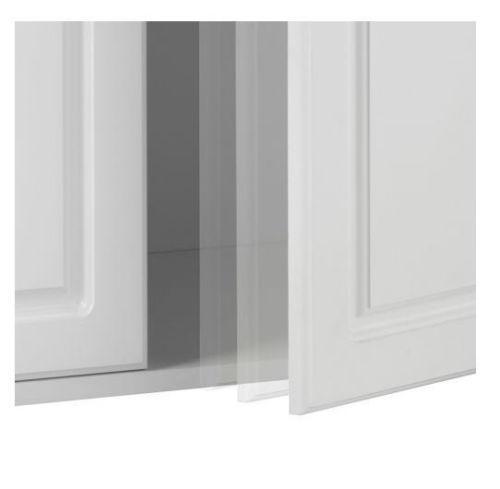 Tall White Kitchen Pantry Cabinet: Tall 2 Door White Utility Storage Cabinet Garage Kitchen