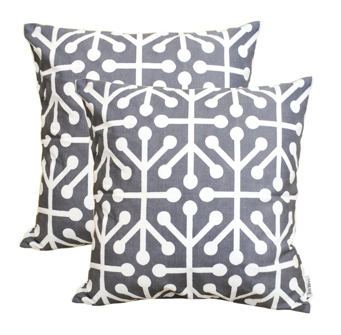 TreeWool, Cotton Canvas Octaline Accent Decorative Throw Pillowcases (Pack of...