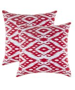 TreeWool, Soft Cotton Ogee Ikat Diamond Accent Decorative Throw Pillowca... - $15.99