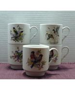 Vintage Set of 5  Bavaria Schumann Arzberg Germany SONG BIRD Coffee Cups - $30.99