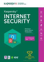 New Kaspersky Internet Security 2017 for 3 Devi... - $24.89