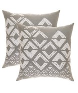 TreeWool, Soft Cotton Squares Geometric Accent Decorative Throw Pillowca... - $16.99