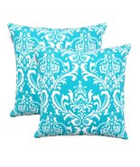 TreeWool, Cotton Canvas Damask Accent Decorative Throw Pillow Covers (Pa... - $18.99