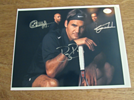 Tiger Woods Roger Federer Theirry Henry Sports Greats Signed Auto 8X10 Photo - $199.99