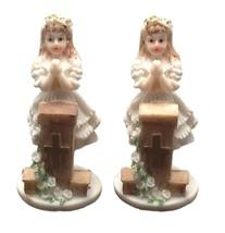"2 pieces praying girlat podium 4"" tall communion favor decoration  - $6.92"