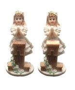 2 pieces praying girlat podium 4" tall communion favor decoration  - $6.92