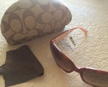 COACH Womens SUNGLASSES Tortoise Frames with case and cloth - NEW with Tags