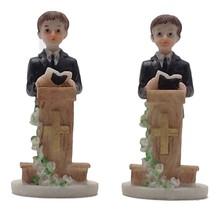 "2 pieces praying boy at podium 4"" tall communion favor decoration  - $6.92"
