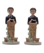 2 pieces praying boy at podium 4" tall communion favor decoration  - $6.92