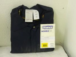 Stanco Flame Resistant Jacket 2 Pockets Zipper Navy Blue Size 2XL NX6624... - $90.00