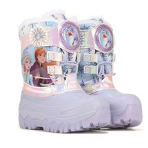 Toddler Girls Disney Frozen 2 Elsa Anna Light Up Winter Faux Fur Snow Boots NEW