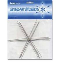 "SNOWFLAKE Wire FORM 6"" Lot of 6 FLAKES ~ U Add Beads E-Z  + FUN Craft Pr... - $4.84"