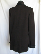 ST JOHN KNIT Top Sweater 14 Brown Black Trim Bust 40 Inch USA Flawless - $235.50