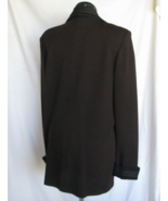 ST JOHN KNIT Top Sweater 14 Brown Black Trim Bust 40 Inch USA Flawless - $235.50