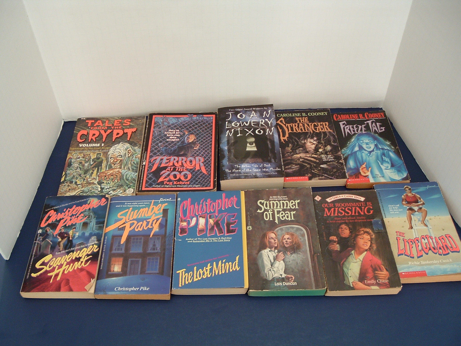Primary image for YA teen  mystery scary horror 11 PB book lot Christopher Pike Lois Duncan Cooney
