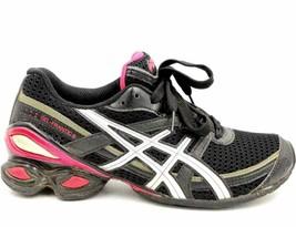 ASICS Gel Frantic 6 Women Athletic Sneakers Size US 6M Black Pink - $31.24