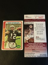 1978 Topps #365 Ken Stabler Autograph Auto Oakland Raiders Signed Jsa Certified - $48.26