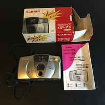CANON SURE SHOT AF-7S 35MM POINT & SHOOT FILM CAMERA & STRAP BOX AND MANUAL - $25.11