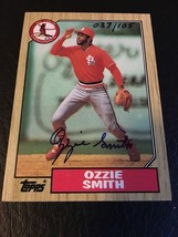 1987 Topps Ozzie Smith Buyback Auto Autograph Cardinals 37/105 Mint - $119.95