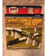 ATLAS #80 47 PIECE HO SCALE OVER N' UNDER PIER SET NIB - $25.11