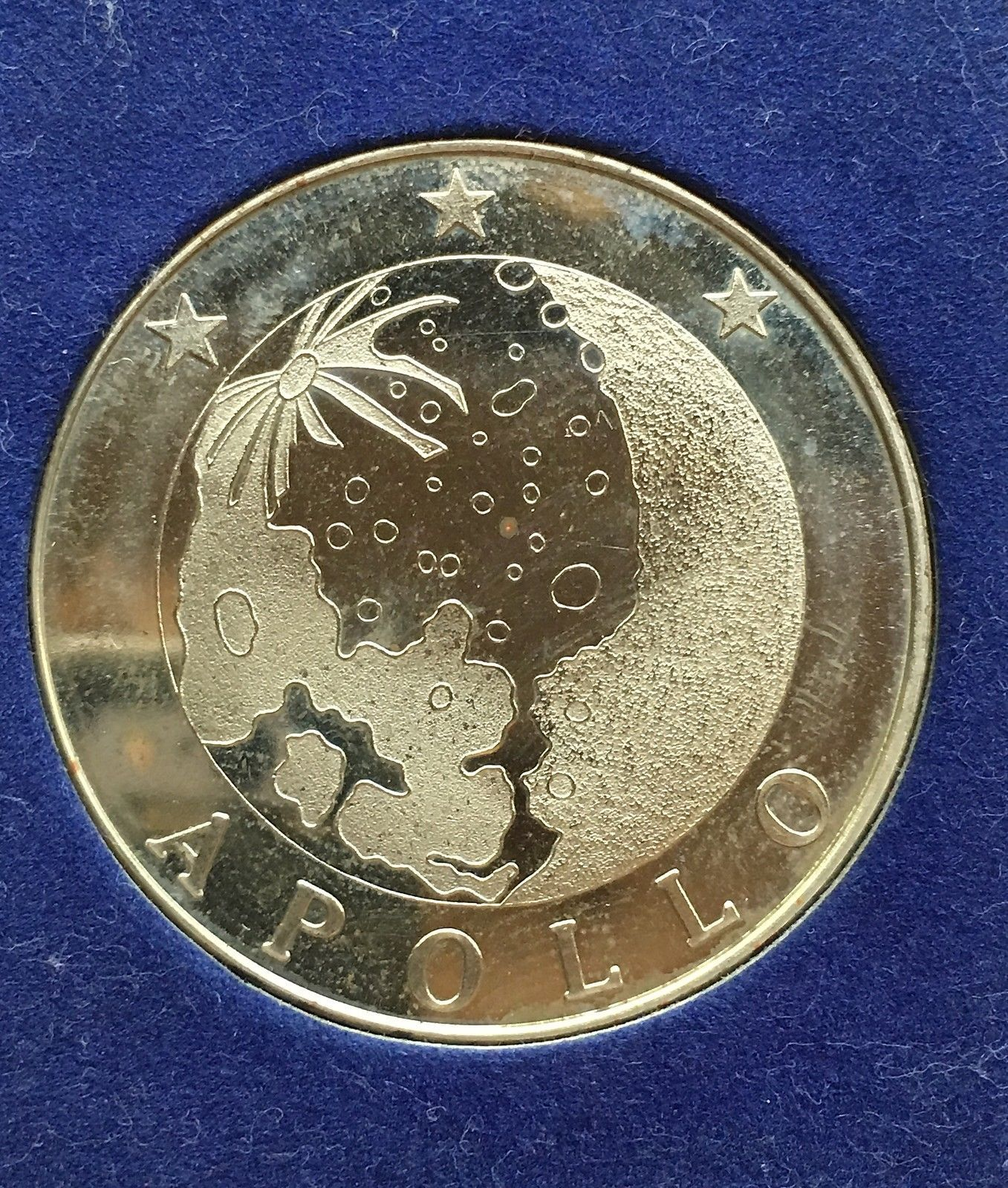 1972 USA SILVER MEDAL COMMEMORATIVE STERLING SILVER COIN APPOLLO 16 39MM 21g