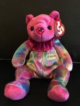 TY BEANIE BABY JANUARY BIRTHDAY BEAR CLOWN COLLAR MINT & MINT TAGS RETIR... - $8.75