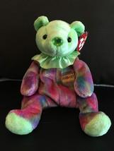 TY BEANIE BABY AUGUST BIRTHDAY BEAR CLOWN COLLAR MINT & MINT TAGS RETIRE... - $8.75
