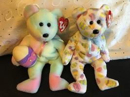 TY BEANIE BABIES BEARS LOT OF (2) EGGS 2004 & EGGS 2006  NWT MINT EASTER - $11.60